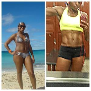 Nicole Moore - Before After- Maryland NPC Womens Physique Competitor - Columbia MD Prep Coach