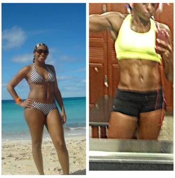 Nicole Moore - Before After- Maryland NPC Womens Physique Competitor