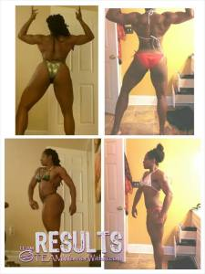 Nicole Moore - Before and After - Maryland NPC Womens Physique Competitor