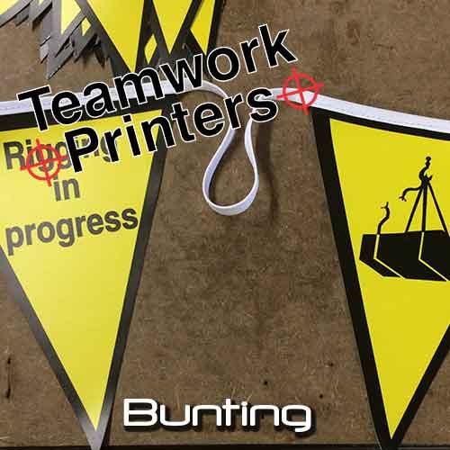 Bunting Flags Teamwork Printers