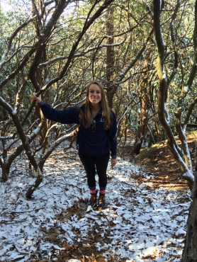 Hiking the cold trail