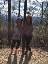 Jess and I on our hike, after the snow melted