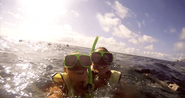 Abby (Left) and I Snorkeling