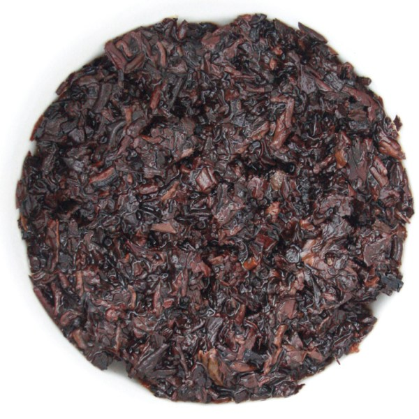 Birds Nest Loose Leaf Puerh Tea wet leaf