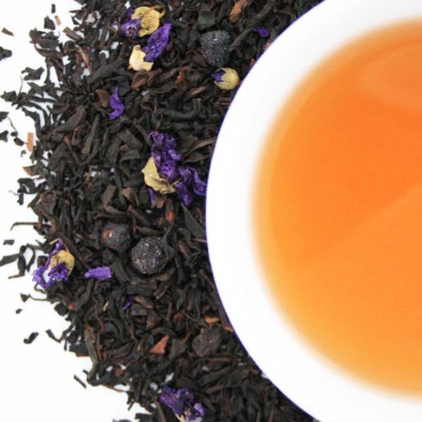 Blueberry Thrill Loose Leaf Black Tea brewed tea