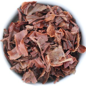 Darjeeling Loose Leaf Black Tea wet leaf