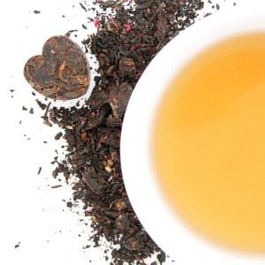 Dark Hearts Puerh Tea brewed tea