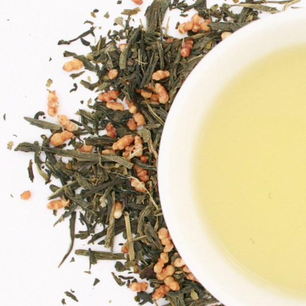Genmaicha loose leaf green tea brewed tea