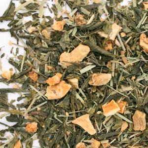 Ginger Lemon loose leaf green tea
