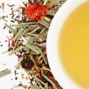 Honeybush Citrus Zest Herbal Blend brewed tea