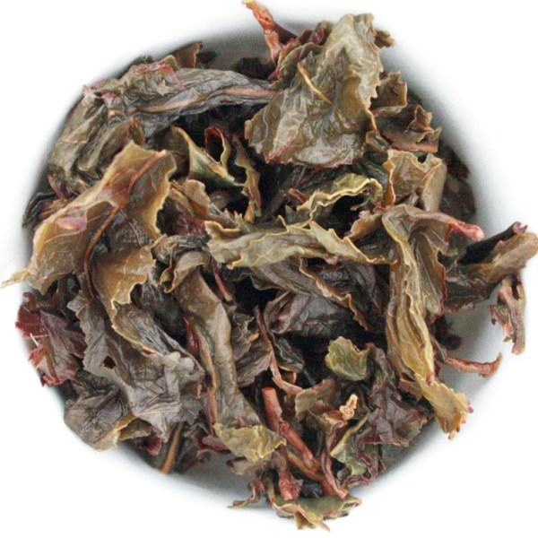 Iron Goddess loose leaf oolong tea wet leaf