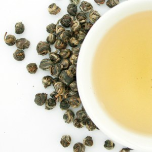 Jasmine Pearls Loose Leaf Green Tea brewed tea