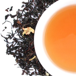 Orange Blossom Oolong Loose Leaf Tea brewed tea