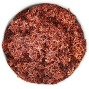 Organic Rooibos Red Tea wet leaf