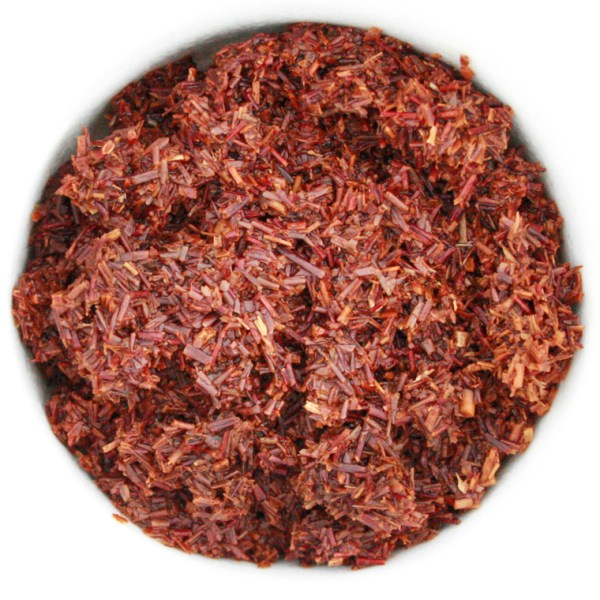Organic Rooibos Red Tea wet leaf