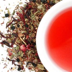 Splendiferous Rooibos Herbal Blend brewed tea