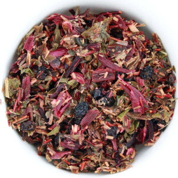 Splendiferous Rooibos Herbal Blend wet leaf