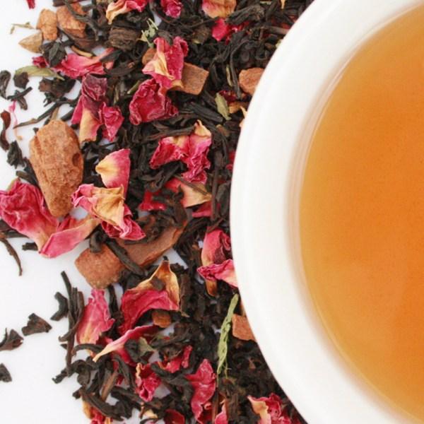 Sugardoodle loose leaf black tea brewed cup