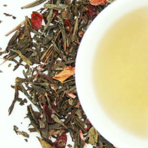 Wild Cherry Loose Leaf Green Tea brewed tea