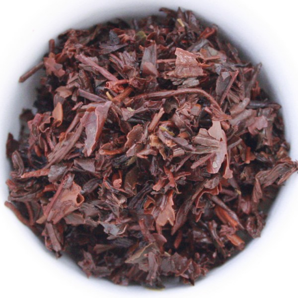 Black Currant Loose Leaf Black Tea wet leaf