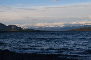 The mountains looking over Flathead Lake, MT