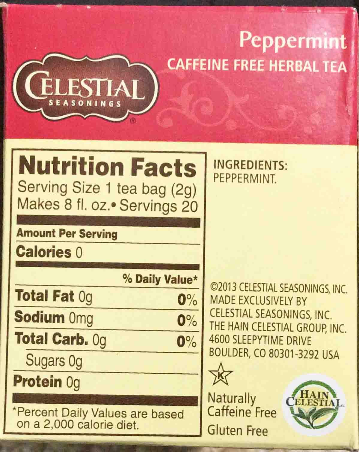 Celestial Seasonings Peppermint Herbal Tea Review Toms Tea Reviews
