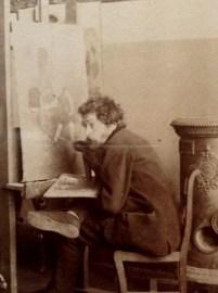 Charles-Henri Pille, Paris, 1880 by Edmond Benard