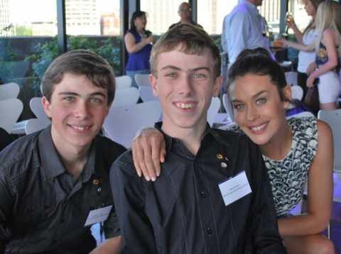 Daniel and William and Megan Gale at the 2013 NSW Pride of Australia