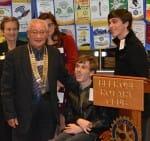 Rotary Club President Alf Guy
