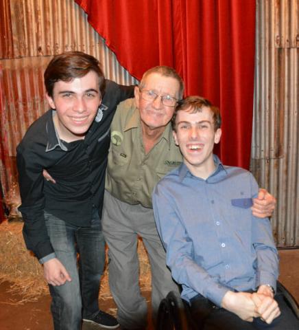 Bob Irwin with Daniel and William