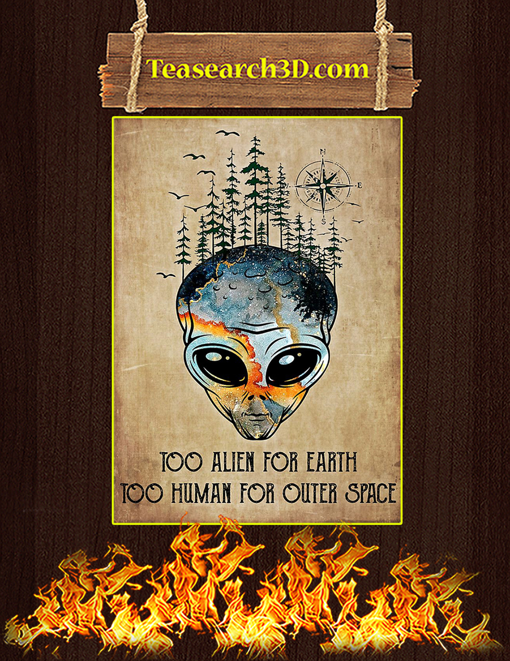 earth too human for outer space poster