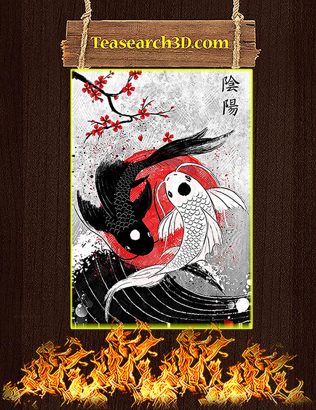 sakura koi fish yin yang cherry blossom