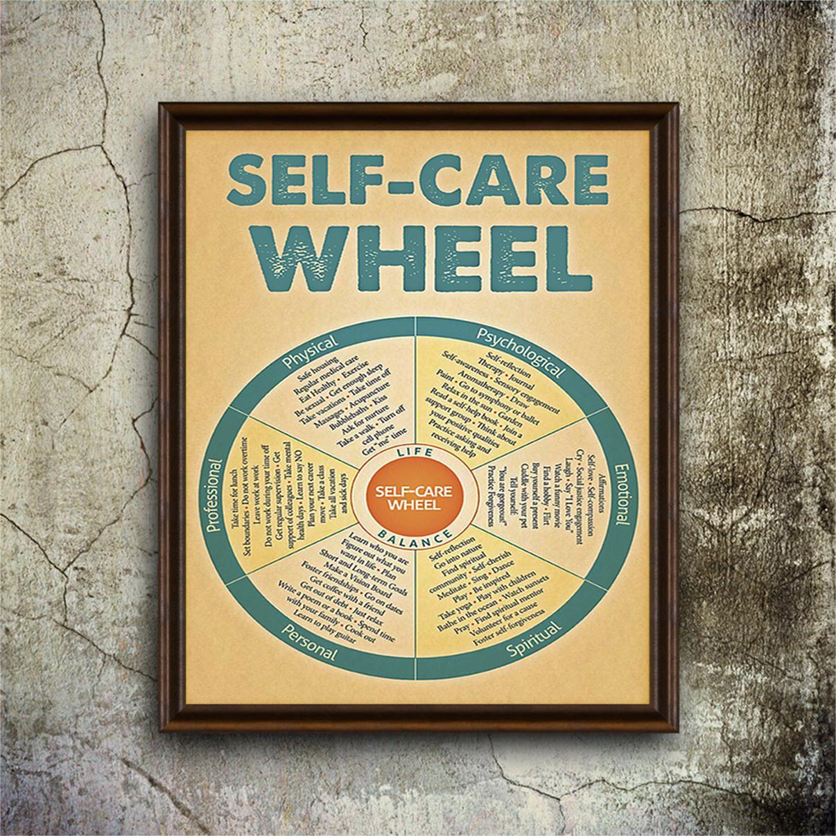 Beautiful Poster Social Worker Self Care Wheel
