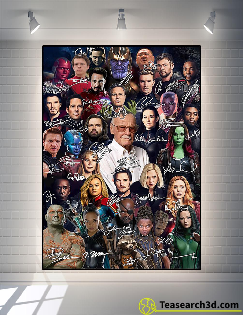 top stan lee all actors signature poster