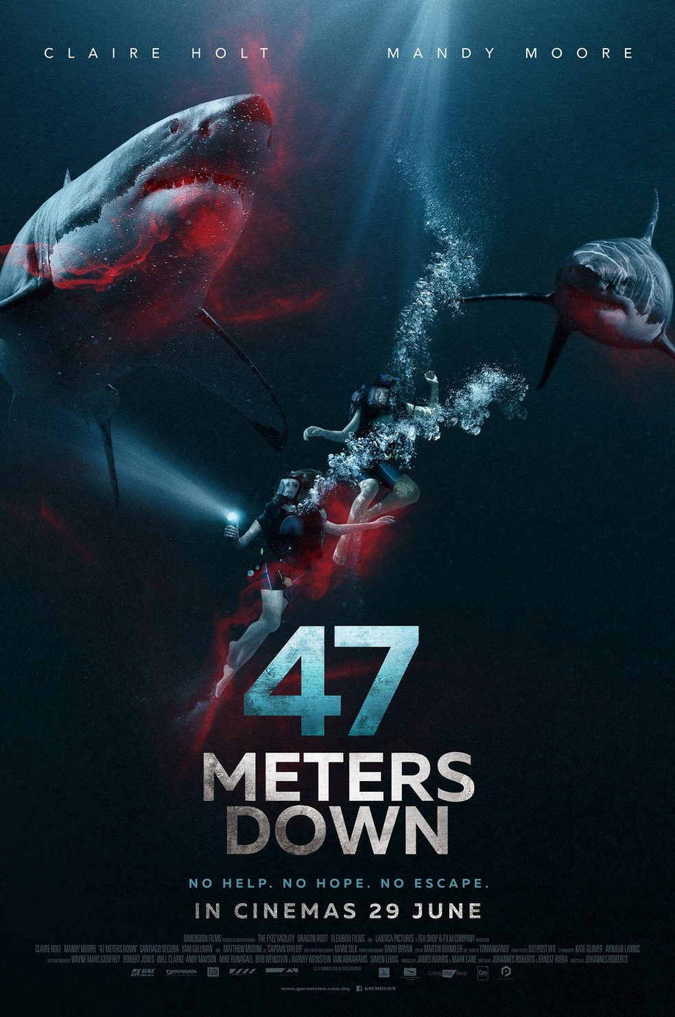 Image result for 47 meters down poster