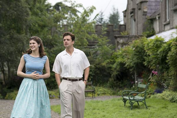Alexandra Daddario and Sebastian Stan in the movie We Have Always Lived In The Castle