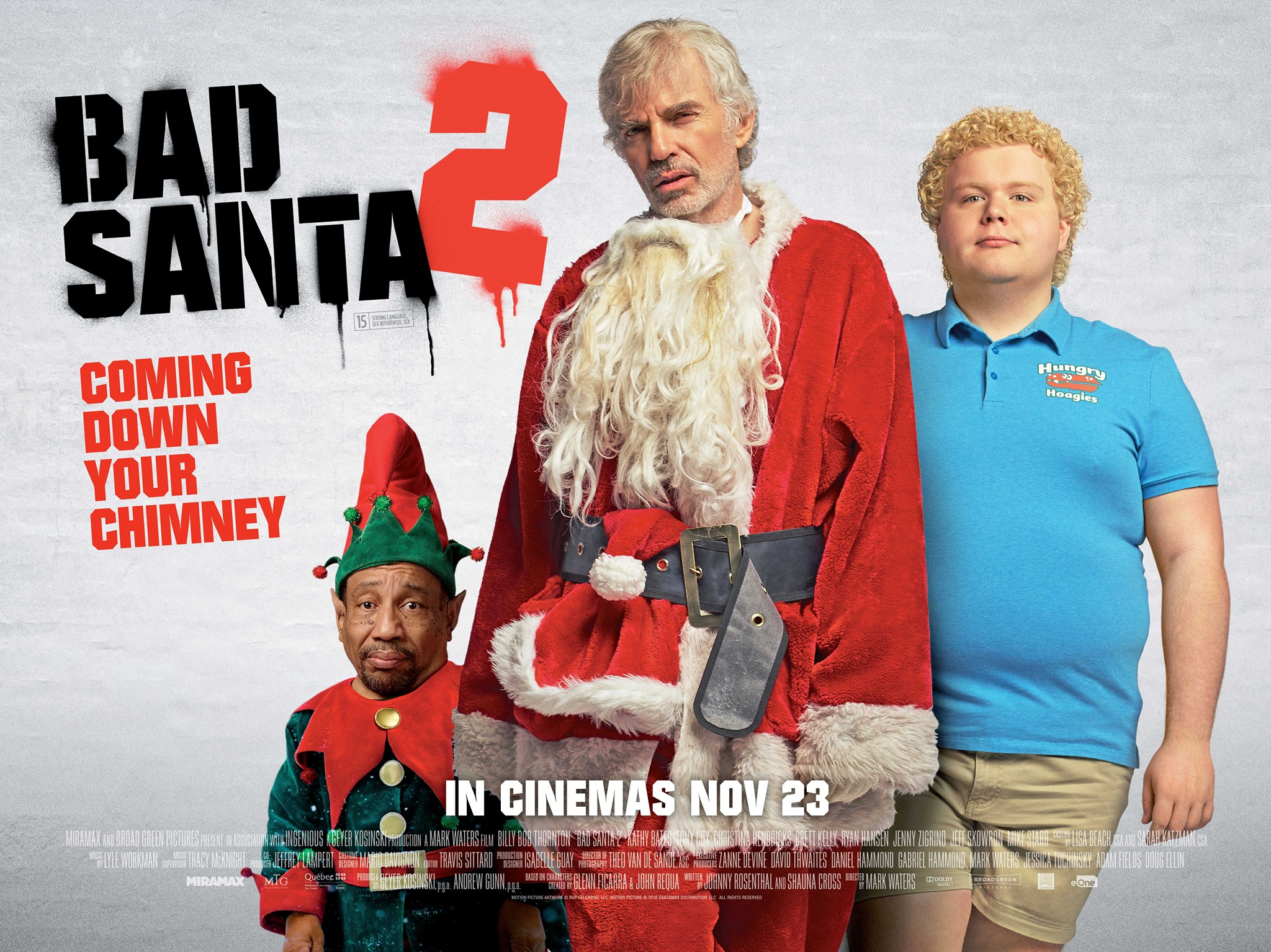 Bad Santa 2 Movie Poster And Tv Spot Teaser Trailer