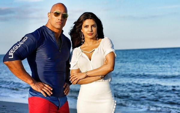 Baywatch Dwayne Johnson The Rock and Priyanka Chopra