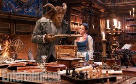 Beauty and the Beast (2017) The Beast (Dan Stevens) and Belle (Emma Watson) in the castle library