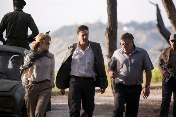 Rosamund Pike stars as Sandy Crowder, Jon Hamm as Mason Skiles and Dean Norris as Donald Gaines in BEIRUT, a Bleecker Street release.