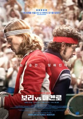 Borg McEnroe South Korean Poster