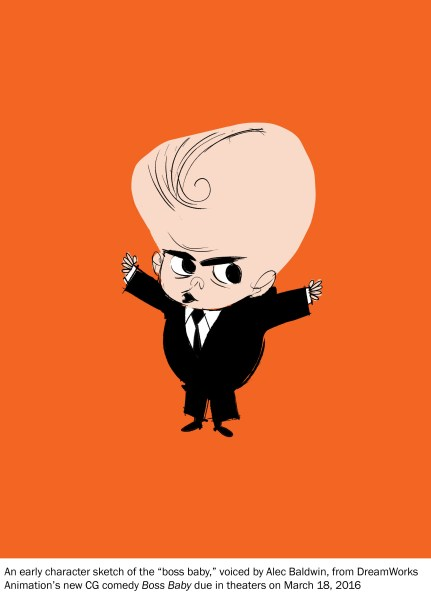 Boss Baby Movie Early Character Sketch