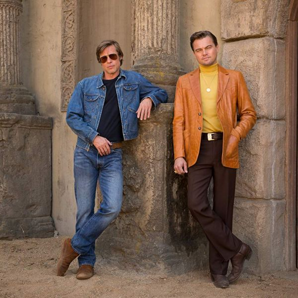 Brad Pitt and Leonardo DiCaprio in the movie Once Upon A Time In Hollywood