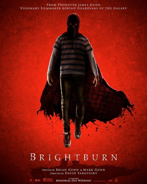 Brightburn Movie Poster Red