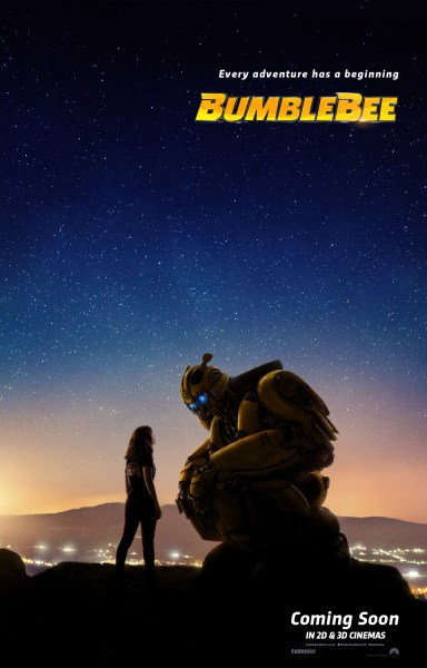 Bumblebee New Film Poster Crouching Bumblebbe