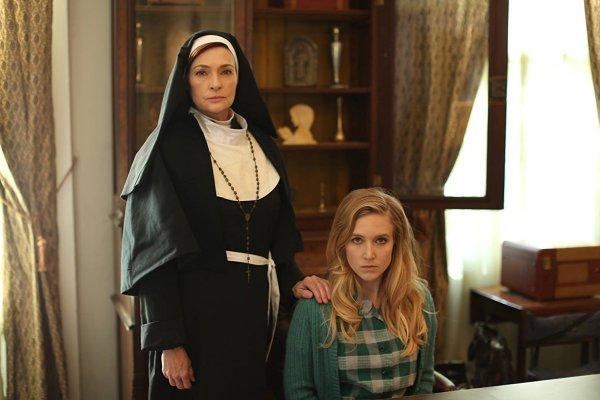 Carolyn Hennesy and Sabrina Kern in St. Agatha