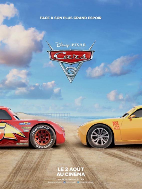 Cars 3 Movie Poster Teaser Trailer