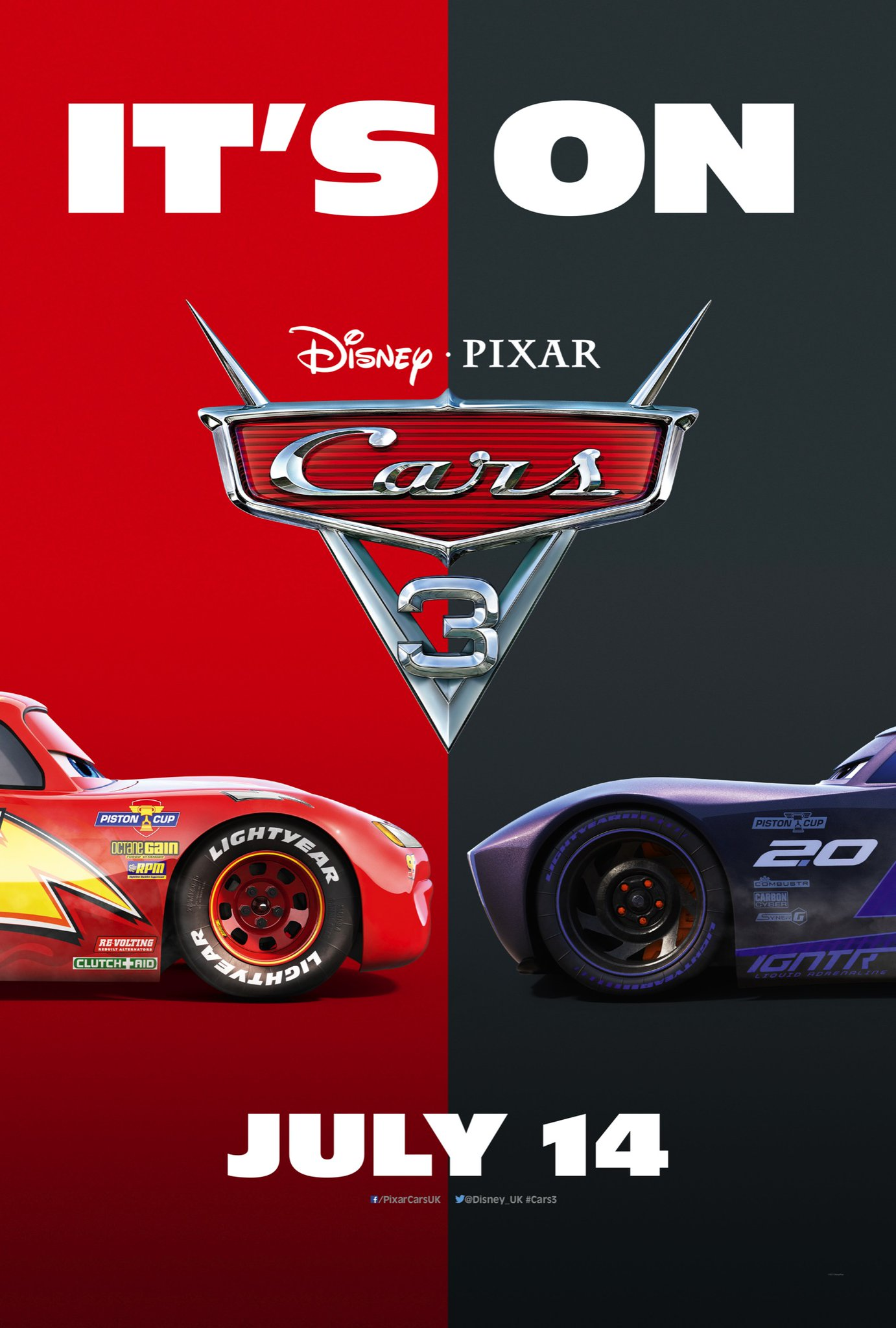 Cars 3 Movie – Poster and Trailer : Teaser Trailer