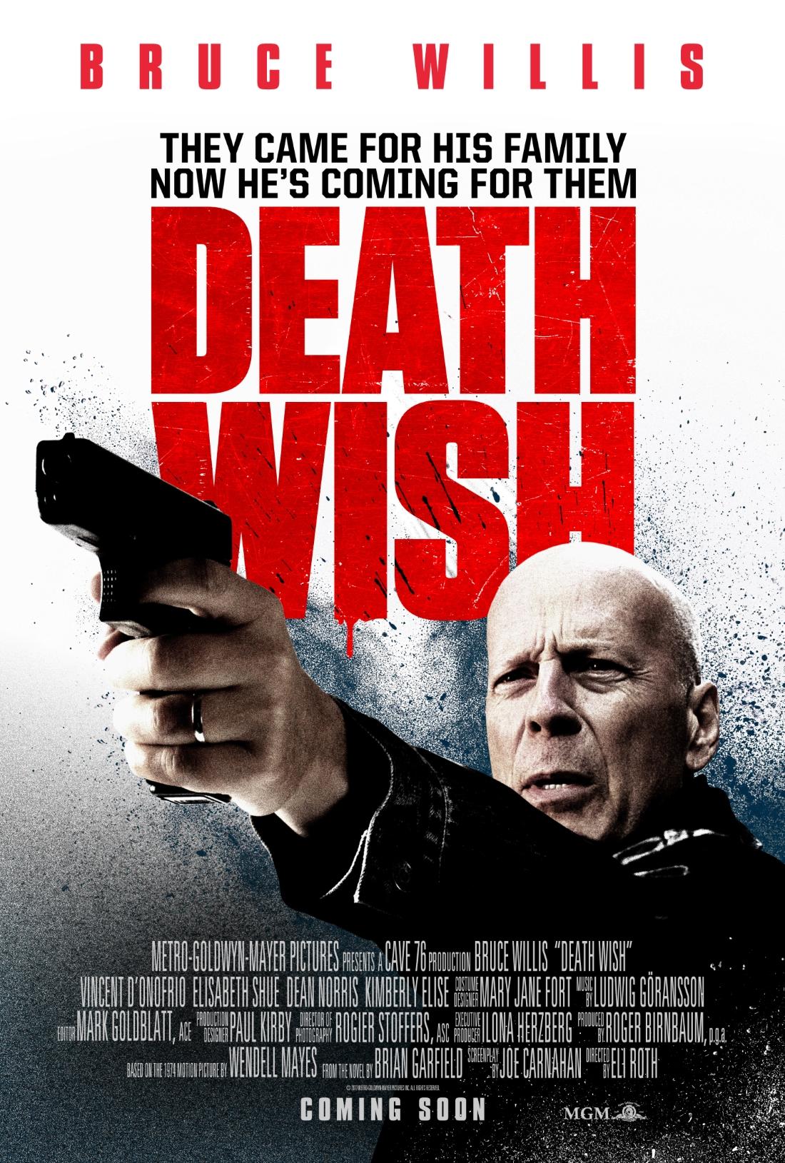 Death Wish Movie starr... Bruce Willis Movies