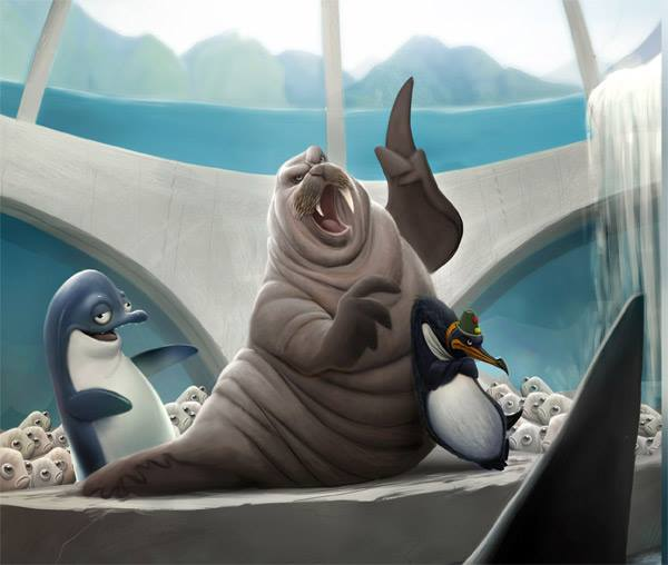 Deep movie - The villains: evil walrus, sinister penguin and stupid dolphin